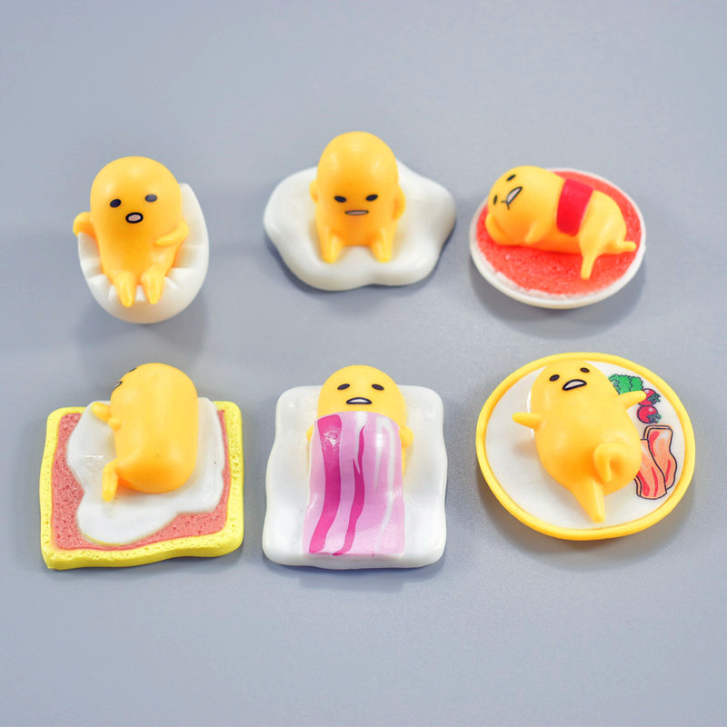 2018 New arrival 6pcs/lot Gudetama lazy egg yolk brother Gudetama pvc action figure model building toys
