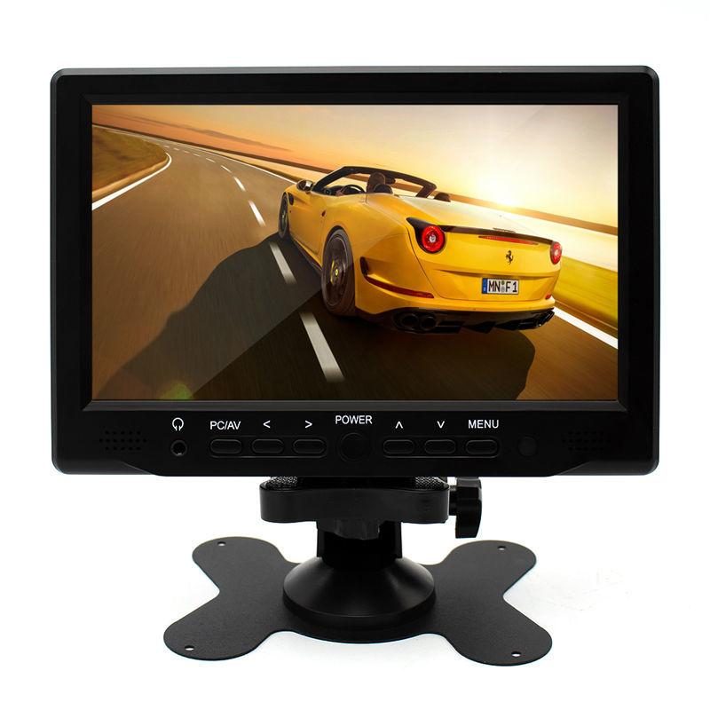 Greenyi 7 Zoll 800x480 Tft Farbe Lcd Av Fahrzeug Auto Rück Monitor Unterstützung Hdmi Vga-handels Schnittstelle Kann Mit Pc Volumen Groß