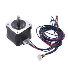 2/4 шт. 42 Шаговый двигатель Nema 17 шаговые двигатели 1,8 градусов а Н · м 42 мм 90 см свинцовый кабель для a6 a8 e10 e12 Запчасти для 3D принтера