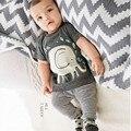 2 ШТ. Малыши Мальчиков Костюмы Слон Печати Топы Рубашка + Длинные Брюки Костюмы Детская Одежда