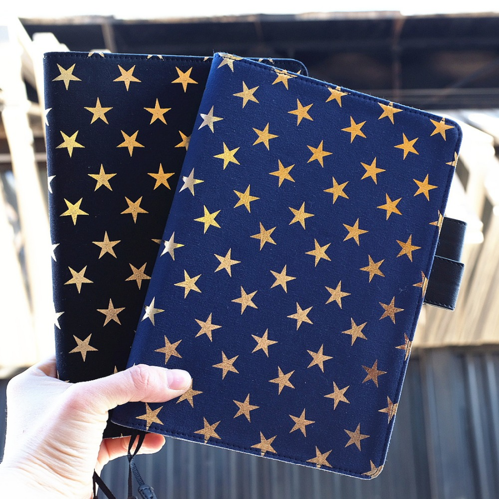 quot Golden Stars Basic quot Big Size Beautiful Cute Journal Replaceable Lined Papers Notebook Travel Diary Girlfriend Stationery Gift in Notebooks from Office amp School Supplies
