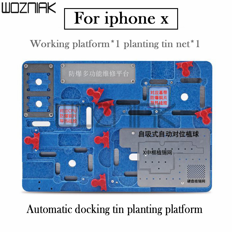Newest Circuit Board PCB Holder Jig Fixture Work Station for iPhone X Motherboard A11 CPU Chip Repair Tools newest circuit board pcb holder jig fixture work station for iphone 8 7 6sp 5s logic board a8 a9 a10 chip repair tool