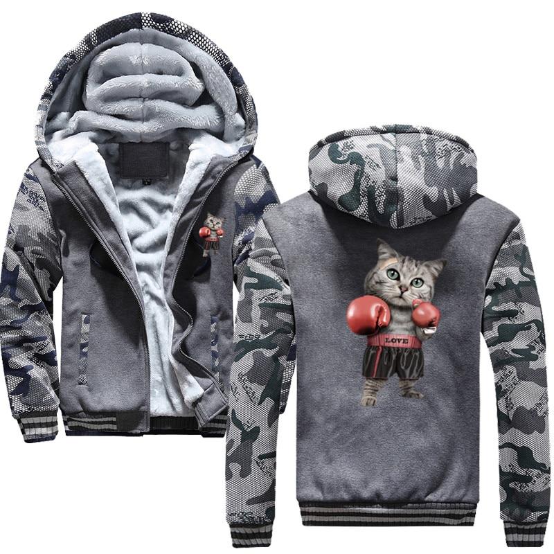 Nouveau Puglism Starke Boxer Kinder Lustige à capuche imprimer 3D veste hommes 2019 hiver chaud sweat Hip Hop Street Costume
