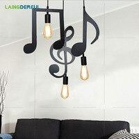Музыкальный символ Edison антикварная люстра держатель лампы E27 отвертка бар чайной лампа головой висит приспособление линии аксессуары