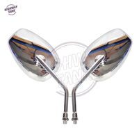 Chrome Motorcycle Rear View Mirrors Case for Kawasaki VN900 VN800 VN400 VN250 Vulcan
