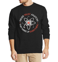 Funny Science sweatshirt Never Trust an Atom 2016 new autumn winter men fashion hoodies high quality top crop top clothing