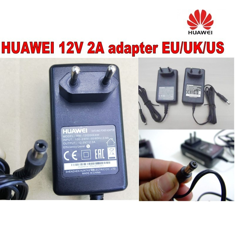 AC DC Adapter for HUAWEI 12V2A-EU/UK/US Power Supply Cord Wall Charger Cable