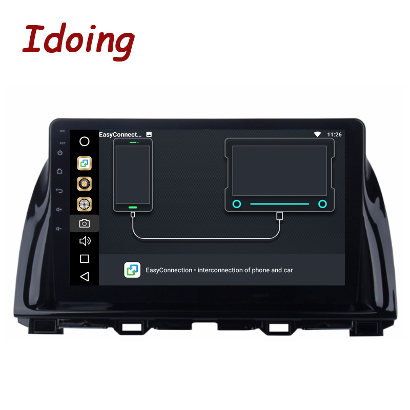 Idoing 2Din 10.2inch 4G RAM 32G ROM Steering Wheel Android8.0 Car Multimedia Player Fit Mazda CX5 Octa Core Fast Boot 3G TV