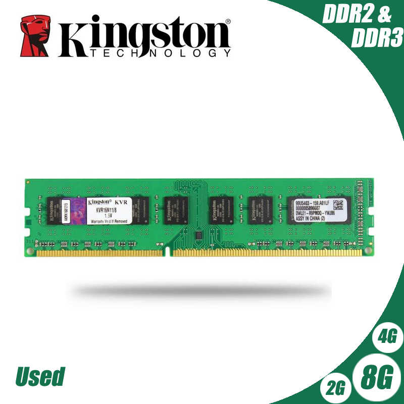 Usato Kingston PC Desktop Memoria RAM Modulo di Memoria DDR2 800 667 MHz PC2 6400 8GB 4GB 2GB 1GB DDR3 1600 1333 PC3-10600 12800