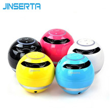JINSERTA Mini Bluetooth Speaker ball, Wireless column Handfree TF FM Radio with Mic MP3 globe audio Music G5 receiver for phone