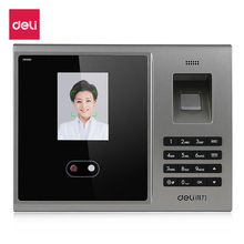 Deli face recognition attendance machine Biometric 3749 fingerprint password pattendance access control intelligent facial цена
