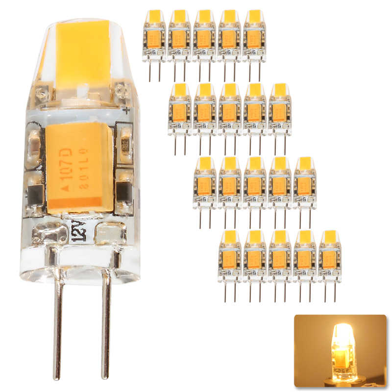 20pcs G4 COB LED Bulb 3W 6W ACDC 12V LED G4 lamp Crystal LED Light Bulb Lampada Lampara Bombilla Ampoule Replace Halogen