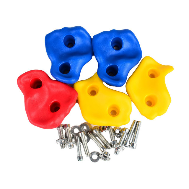 5pcs Set Climbing Rock Wall Kit Stones Hold Grips Playground