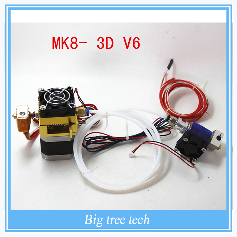 XC3dmaker 3D printer parts mk8 3D V6 12V 0 2 0 3 0 4mm 1 75mm