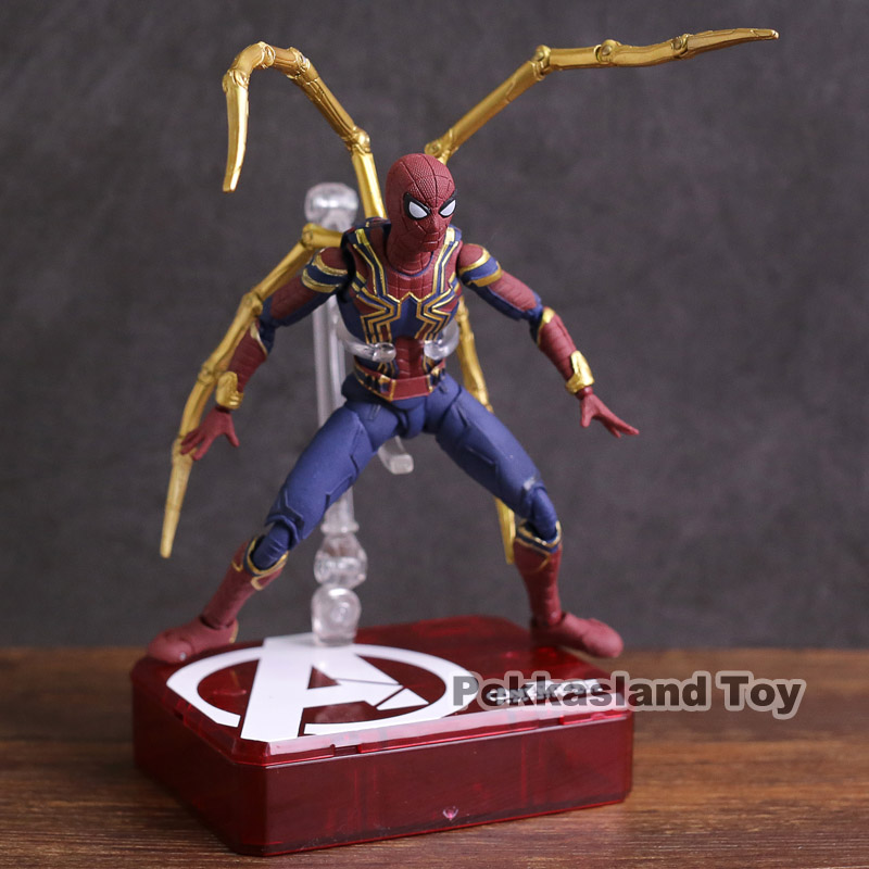 SHF S.H.Figuarts Marvel Avengers Infinity War Iron Spider Spiderman PVC Action Figure Collectible Model Toy play arts kai marvel avengers infinity war super hero iron man war machine pvc action figure collectible model toy