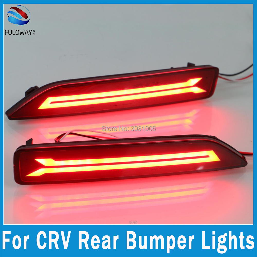 for honda crv cr v led tail light assembly brake drl daytime running lights fog multi functions auto rear bumper brake lights [ 1000 x 1000 Pixel ]