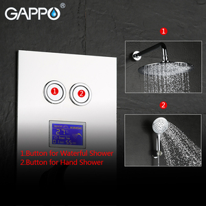 Image 3 - GAPPO in Wall bathtub faucet tap bathroom shower faucet Chrome LED Digital Temperature bath thermostat shower tap Torneira de