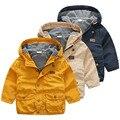 Детские осенние и зимние пальто цвета 2017 Корейская версия новый мальчик дети дети с капюшоном ветровка wt-7065