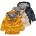 Baby autumn and winter coat color 2017 Korean version of the new boy kids children hooded windbreaker wt-7065