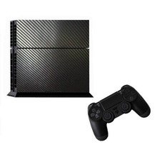 New Cool 3D Textured Carbon Fiber Sticker Wrap Skin For Sony for PS4 for Playstation 4 Console Black Durable Dustproof Decorate