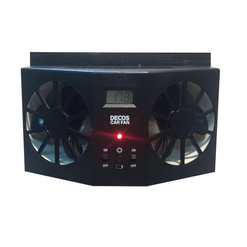 high quality abs car solar fan  car exhaust ventilation system radiator black white colors