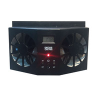 High Quality ABS Car Solar Fan 3.5V Car Exhaust Ventilation System Radiator Black White Colors Fans with Battery 1.5V/600MA*2