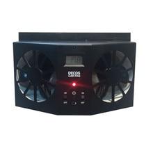 Высокое качество ABS автомобиль солнечной вентилятора 3.5 В выхлопных вентиляции Системы радиатор черный, белый цвет Цвета Вентиляторы с Батарея 1.5 В/ 600ma * 2