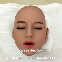 WMDOLL #39 TPE sex puppe kopf für liebe puppe, silikon erwachsene puppen köpfe mit geschlossenen augen, oral sex produkte