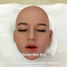 Wmdoll #39 tpeセックス人形ヘッド愛の人形、大人の人形ヘッドクローズド目、オーラルセックス製品