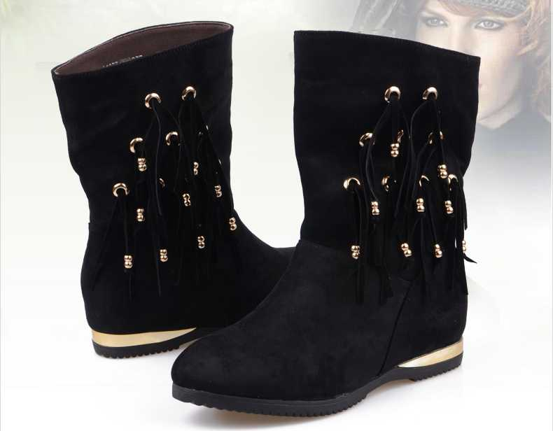 ФОТО Genuine Leather Women Boots Martin Ankle Boots Women Motorcycle Boots Autumn Winter Women Shoes Botas Femininas H5459