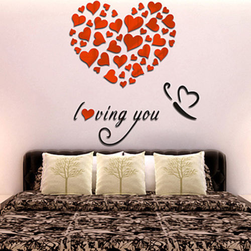 DIY 3D Mirror Love Decor Quote Wall Stickers Removable Decal Home ...