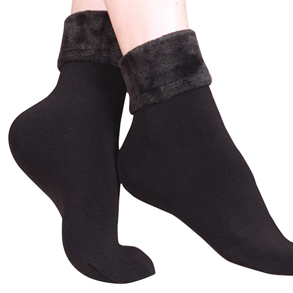 #5 Dropship 2018 Neue Mode Wolle Kaschmir Frauen Verdicken Thermische Weiche Casual Solide Winter Socken Freeship Dinge FüR Die Menschen Bequem Machen