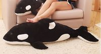 big plush black whale toy long cartoon killer whale doll birthday gift about 120cm s1993