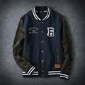 The new spring autumn 2017 men's high-end boutique men's fleece big yards students baseball shirt blue/black loose coat style