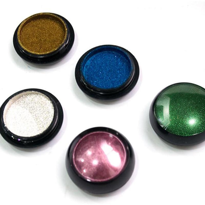 0 5g box Nail Mirror Powder 7Colors Metallic Effect Powder Chrome Nail Art Fine Glitter Dust UV Gel Nail Polish Pigment Powder in Nail Glitter from Beauty Health