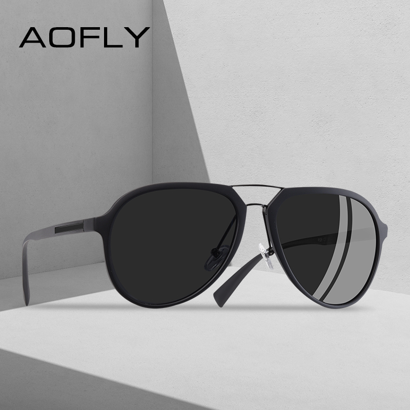 AOFLY BRAND DESIGN Polarized Sunglasses Men Vintage Driving Classic Sunglasses Women TR90 Frame Goggles UV400 AF8101