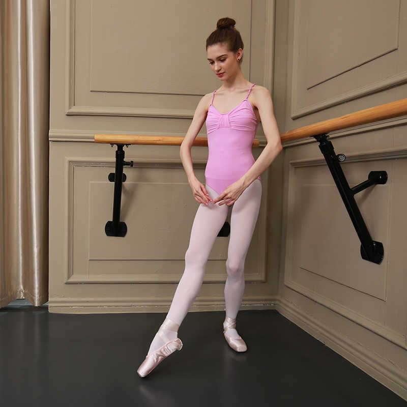 Sansha ผู้หญิง Camisole Leotards Criss - Cross Straps กลับ Meryl Lycra หญิงบัลเล่ต์ Dancewear ฟิตเนสยิมนาสติก Leotard LE1577M