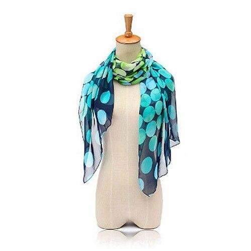 Women's Spring Summer Fashion Big Polka Dot Print Long Shawl Chiffon   Scarf     Wrap