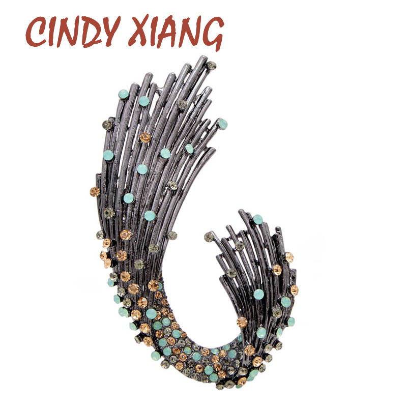 CINDY XIANG New Star Luxury Rhinestone Brooches for Women Elegant Coat Accessories High Quality Large Pins Gift 2019