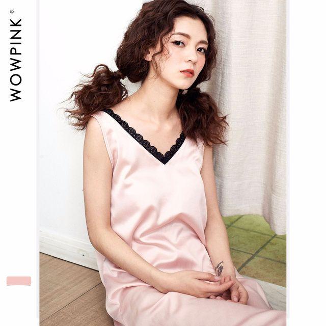 494e0d318924 New Style Sexy Lace Silk Dress Skirt Sleeping Skirt Sleepwear Female Women  Dresses Pyjamas Home Clothes