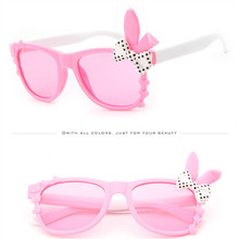 ASOUZ новые модные мужские и женские детские солнцезащитные очки, Классические брендовые дизайнерские детские очки с заячьими ушками и бантом, UV400 Солнцезащитные очки