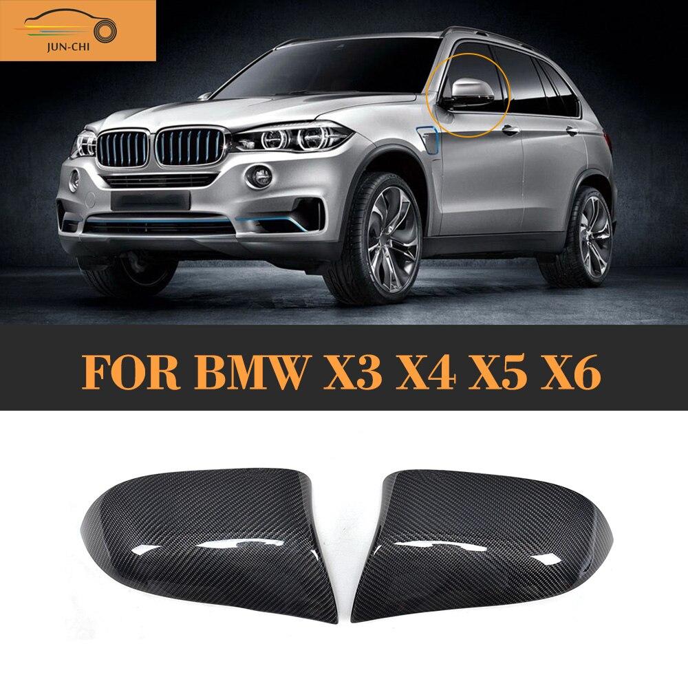 Carbon Fiber auto car side mirror fender for BMW X3 F25 X4 F26 X5 F15 14-16 X6 F16 15-16 A Style Not M Car for bmw x3 x4 x5 x6 2014 2015 true carbon fibre car side mirror rearview cover trims 2pcs