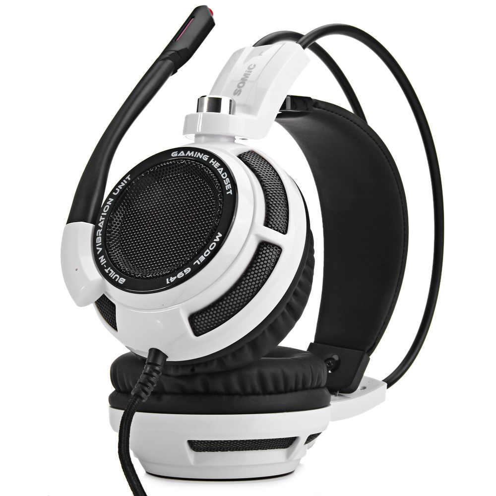 Somic G941 7,1 виртуальный объемный звук наушники USB шумоподавление игровая гарнитура с вибрационным микрофоном Голосовое управление