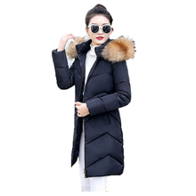 Winter Coat Women white black M-3XL plus size thickening hooded jacket new Korean version of the slim fashion down JD322