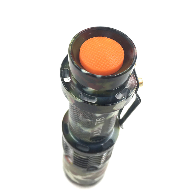 NEW z17SK98 Camouflage XM-L T6 3800LM Waterproof LED Flashlight Torch 5 Mode zoomable Adjustable Focus Lantern Portable Light