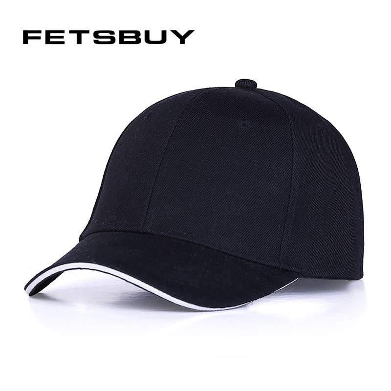 [FETSBUY] male bone Golf Baseball Caps Outdoor polo Hats women men cap with straight Dad hat snapback female baseball caps 2017 new solid color baseball cap polo hats for men or women autumn and winter outdoor bone cap hat