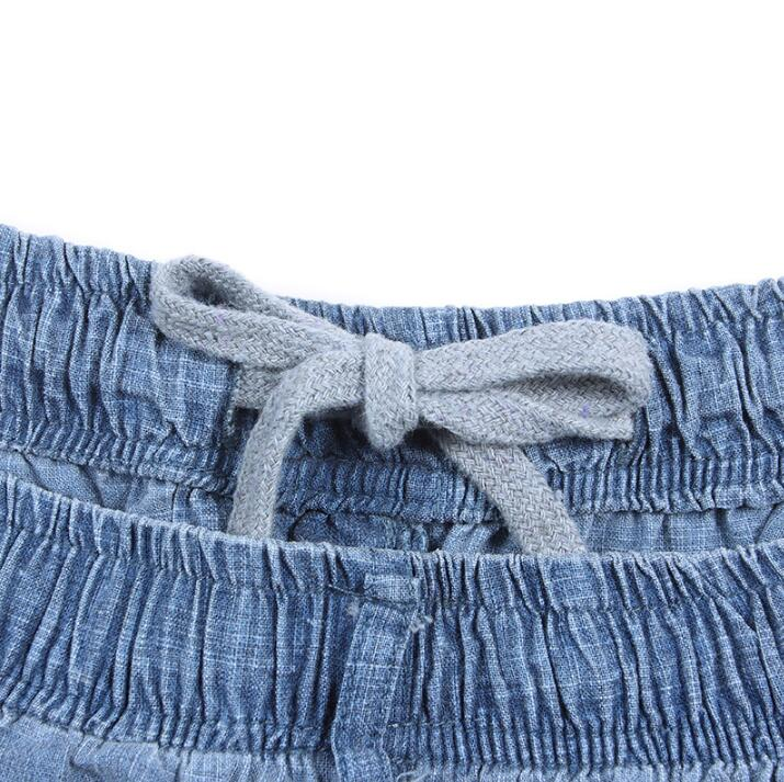 Summer thin casual male flax pants mens elastic waist linen trousers men breathable pantalon homme pantalones hombre 2018 new