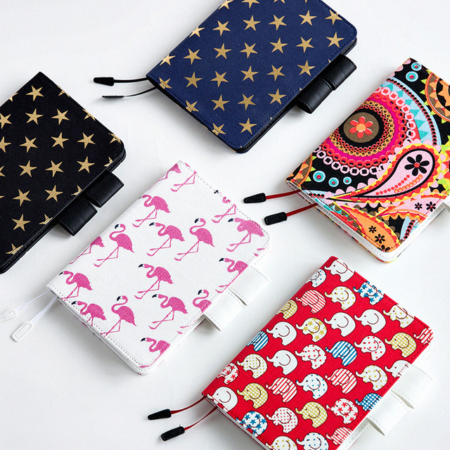 Fabric Book Cover Buy : Japanese canvas fabric notebook with pvc cover daily