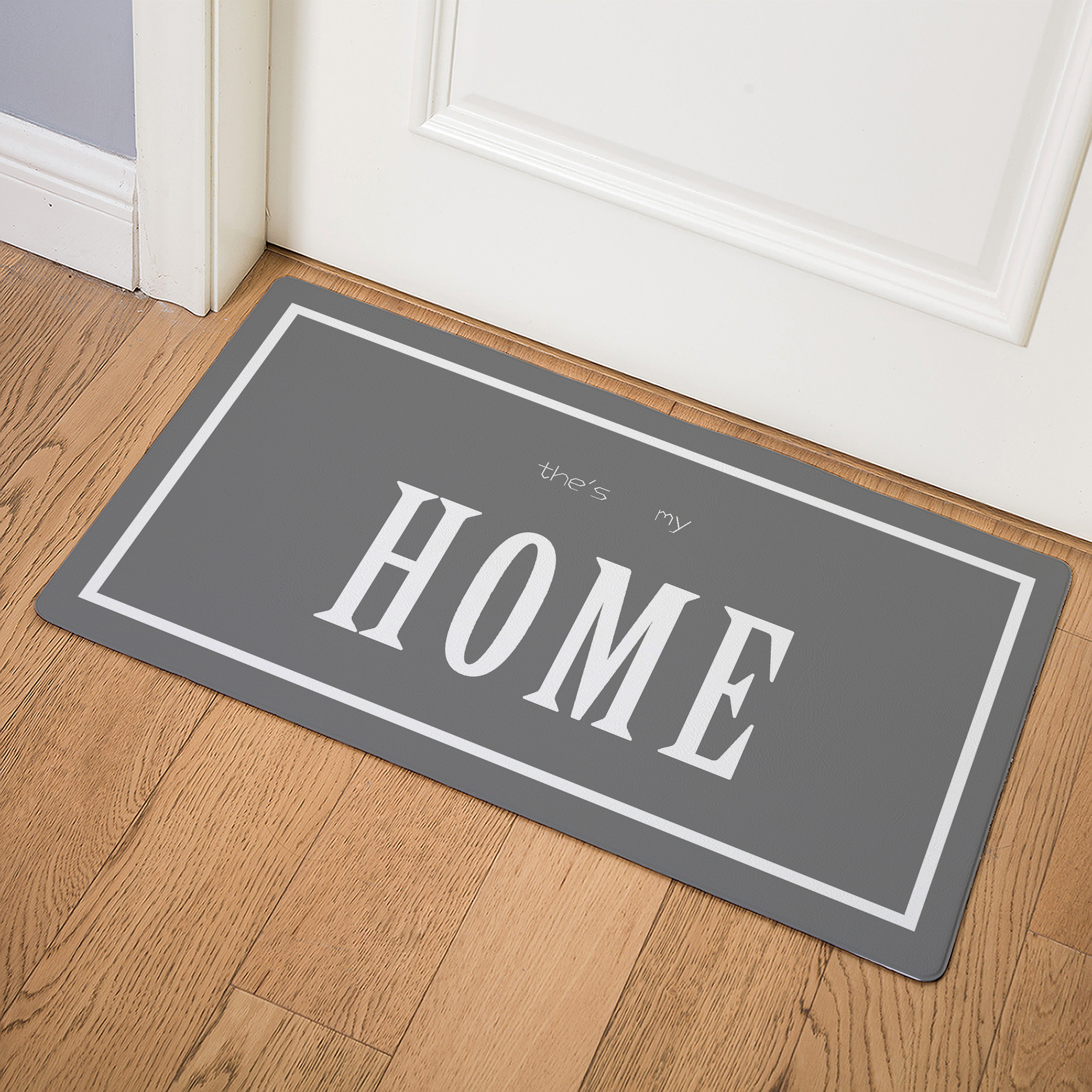 Image 3 - HOME Bedroom Rugs Nordic Style Creative Floor Mats Imitation Ieather Doormat Home Decoration Mat In The Hallway  Donut-in Mat from Home & Garden
