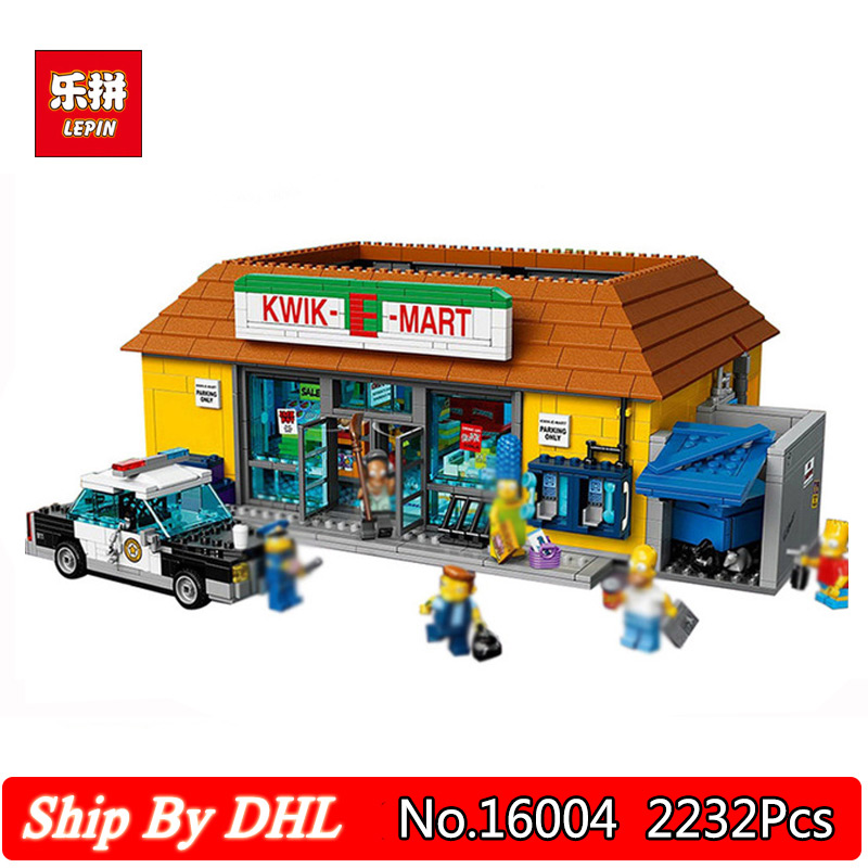 Lepin 16004 2232Pcs the Simpsons KWIK-E-MART Action Model Building Block Bricks Compatible 71016 конструктор lepin creators simpsons магазин на скорую руку 2220 дет 16004